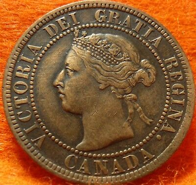1900 XF-AU High Grade CANADA LARGE CENT Victoria COIN NoRes CANADIAN