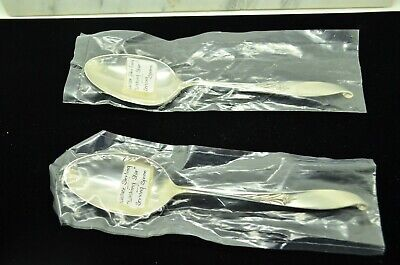 "Lot Of Two Sterling Silver Wallace Wishing Star 7 1/8"" Serving Spoons"