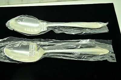 "Lot Of Two Sterling Silver Oneida Heirloom Lasting Spring 8 1/4"" Serving Spoons"