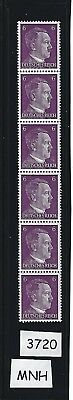 MNH Stamp strip / Adolph Hitler / 1941 PF06 / Nazi Germany / Third Reich stamps