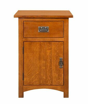 Mission Solid Quarter Sawn Oak Nightstand, End Table with Storage