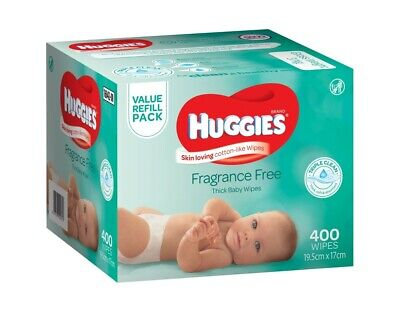 Huggies Wipes Mega Fragrance Free 400 Pack