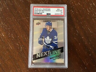 2016/17 UD Overtime Auston Matthews Next in Line #NL-1 PSA 10 QTY AVL