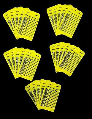 (Lot Of 25) Ptag Plastic 1 Year Plastic Inspection Tags