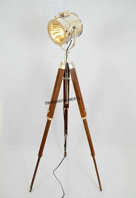 Studio Wooden Stand Theater Industrial Spotlight Stage Lamp Light Tripod Gift