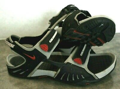 8eb463e6482d Nike ACG Hiking Sandals~Mens 10M Gray Black Velcro Sport Beach Walking Shoes