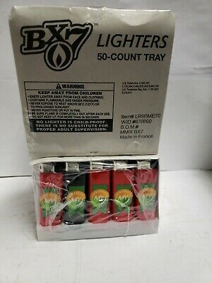 2 PACK 50-count tray / Brand New BX7 Lighters THIN Size Asstored Colors! 100!!ct