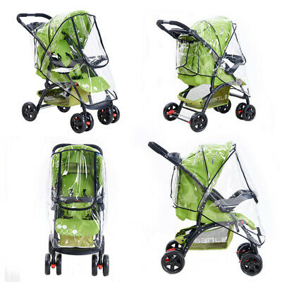 Universal Baby Pushchair Raincover Fit for Hauck Shopper Buggy Pram Covers Clear