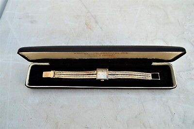Jaeger LeCoultre Gold Lady's art deco styled wristwatch