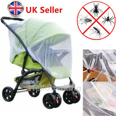 Stroller Pushchair Pram Mosquito Fly Insect Net Mesh Buggy Cover Infant Baby UK