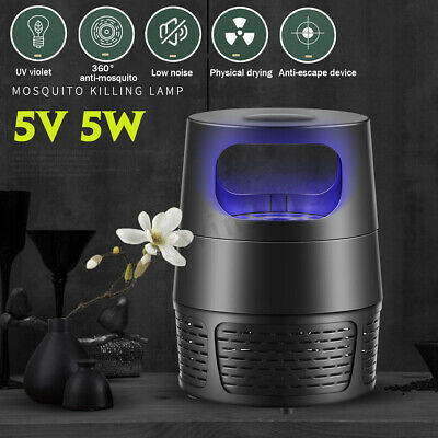 USB Mosquito Killer Fly Wasp Trap LED Killing Night Lamp Bug Insect Light