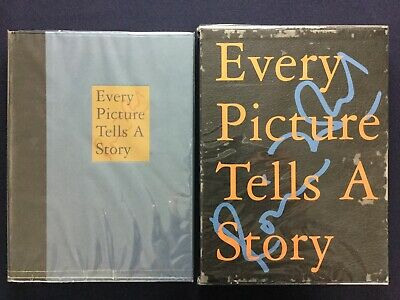 RONNIE WOOD Wood on Canvas, Every Picture Tells A Story 1998 Signed Photobook