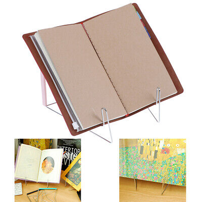 Hands Free Folding Tablet Book Reading Holder Stand Bracket Stainless Steel JC