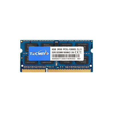 For Kingston 8GB 2Rx8 PC3L 12800S DDR3L 1600MHz 204pin Laptop RAM Memory So-dimm