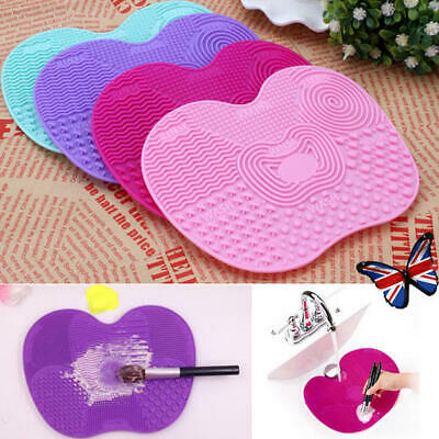 Makeup Brush Cleaner Silicone Cleaning Cosmetic Scrubber Board Mat Pad Hand Tool