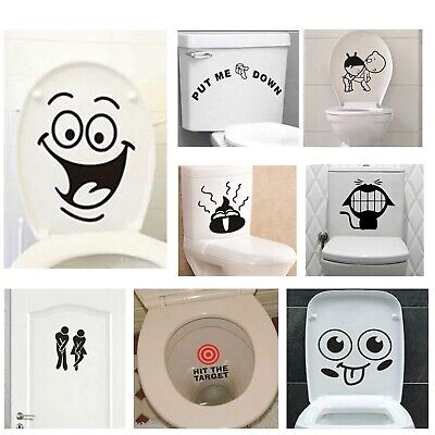 Funny Smile Bathroom Wall Vinyl Stickers Toilet Home Decoration Wall Decals Home Eur 2 78 Picclick Fr