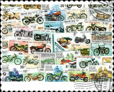 Motorcycles : 50 Different Stamps Collection