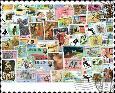 Liberia : 50 Different Stamps Collection