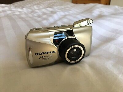 Olympus mju II Zoom 35mm Compact Film Camera with 80 mm lens Kit