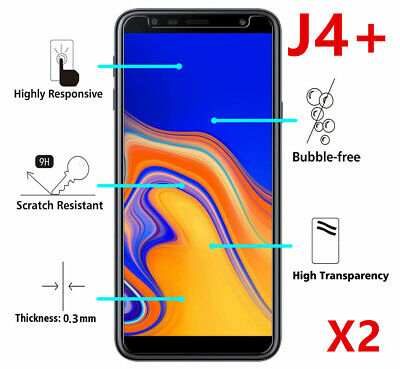 SAMSUNG GALAXY J4 J4 PLUS Film Écran Protection Vitre Verre Trempé Glass 9H