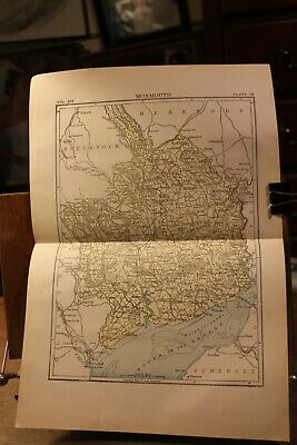 Antique 1895 Map Monmouth