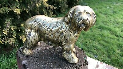 """Fantastic Vintage Heavy Brass """"OLD ENGLISH  SHEEPDOG"""". * Collectable"""