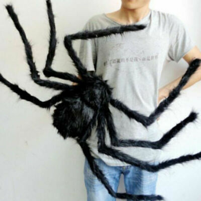 3 Sizes Widow Spider Fake Black Giant Web Decor Haunted House Props Trick Toy AU