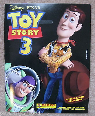 Disney Toy Story 3 Sticker Album Book & Movie Poster Woody Buzz Lightyear New