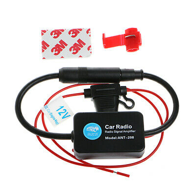 12V 25dB ANT-208 Car FM Radio Amplifier Antenna Booster with Indicator Model