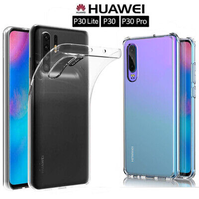 For Huawei P30Pro P30Lite Case Soft Silicone Shockproof Clear TPU Back Cover Lw