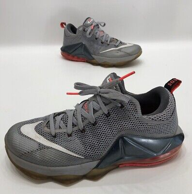 e2ad38de48a74 Nike Lebron 12 XII Low Mens Basketball Shoes Wolf Gray hot Lava Size 10