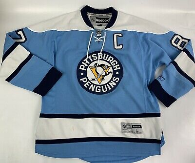 06aaae761 Sidney Crosby Winter Classic NHL Pittsburgh Penguins Reebok Jersey Size L  A3908