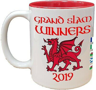 WALES SIX NATIONS GRAND SLAM WINNERS MUG / CUP | New Design | Rugby Welsh Sport