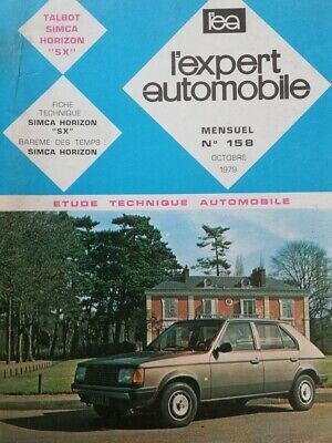 Revue technique TALBOT SIMCA HORIZON SX RTA EXPERT AUTOMOBILE mécanique 158 1979