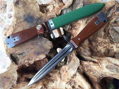 "12 "" New Wood handle 440C Blade Fixed Blade Survival Bowie Hunting Knife VTHM2"