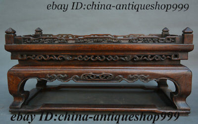 Old Chinese Palace Huang Huali Wood Carved Tea Table Tea-Things Teapoy End table