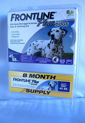 Frontline Plus Flea Tick Treatment For Large Dogs 45-88 lbs - 8 Doses