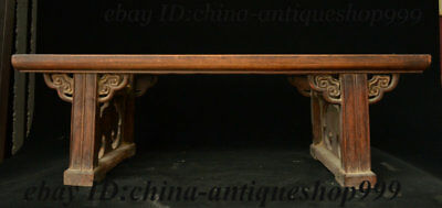 "26"" Chinese Huali Wood Tea Table Coffee table Arne Jacobsen Coffee Table Statue"
