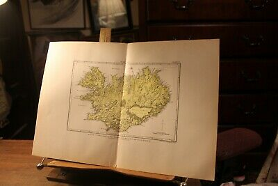 Antique 1895 Map Iceland