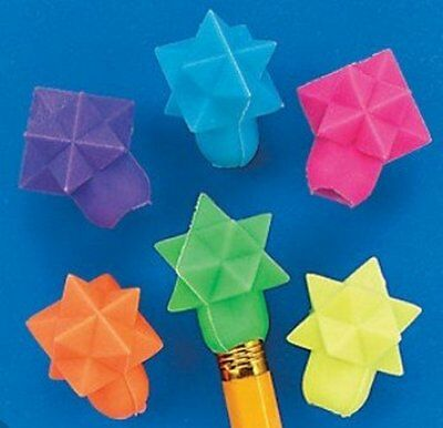 Pack of 24 - Star Shaped Pencil Top Erasers Rubbers - Teacher Supplies School