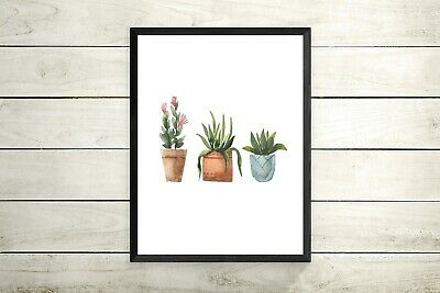 Botanical plant print A4 OR A3 Prints -Pictures Living Room Decor