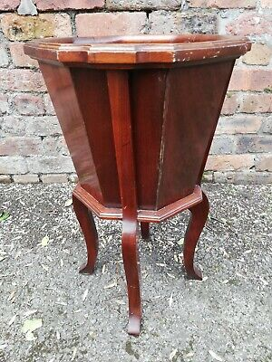 Edwardian mahogany wine cooler / jardiniere / plant stand [D137]