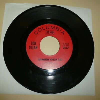 Singer Songwriter 45 Rpm Record - Bob Dylan - Columbia 43242