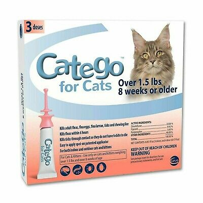 CATEGO Flea Treatment for Cats Over 1.5 Lbs 8 WKS ( 3 DOSES )
