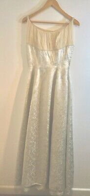 """Stunning  Long Vintage Silver Ball Gown, Chest Measures 32"""""""