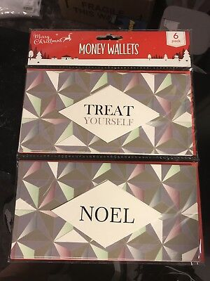 *NEW* Christmas 6 Pack Money Wallets