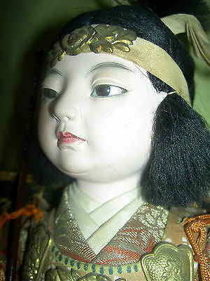 "Very fine, antique JAPANESE ""Onna-Bugeisha,"" female warrior doll with glass eyes"
