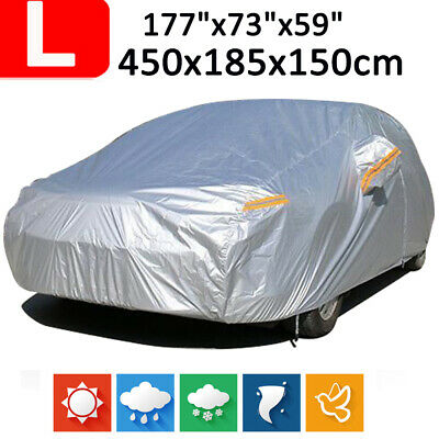 Large 190T Full Car Cover Waterproof Outdoor Snow Dust Scratch Rain UV Resistant
