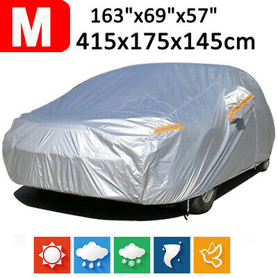 Size M 190T Full Car Cover Waterproof Outdoor Snow Dust Scratch Rain Resistant