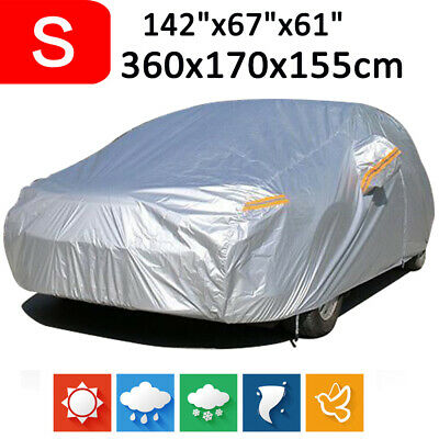 Size S 190T Full Car Cover Waterproof Outdoor Snow Dust Scratch Rain Resistant